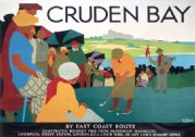 Cruden Bay, Golf, Aberdeenshire. Vintage LNER Railway Travel Poster by Tom Purvis. c1930